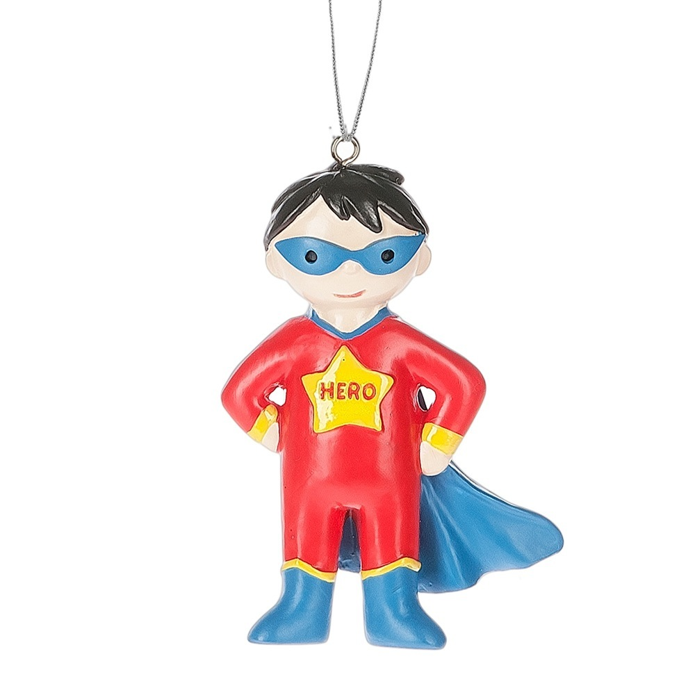 BOY SUPER HERO ORN