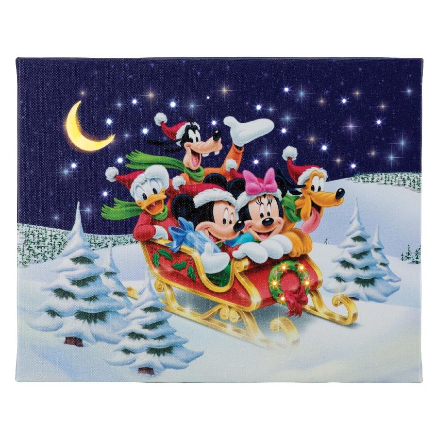 Dashing Through the Snow - 8x10 Disney Illuminart wit Easel