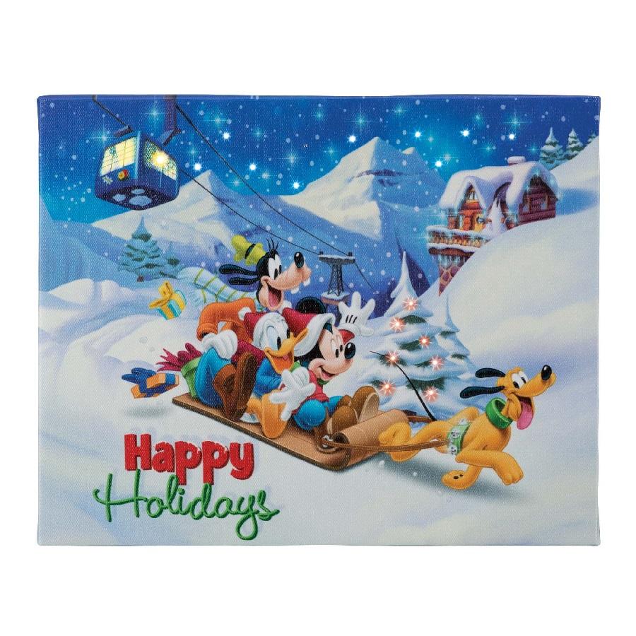 Happy Holidays - 4x6 Disney Illuminart with Easel