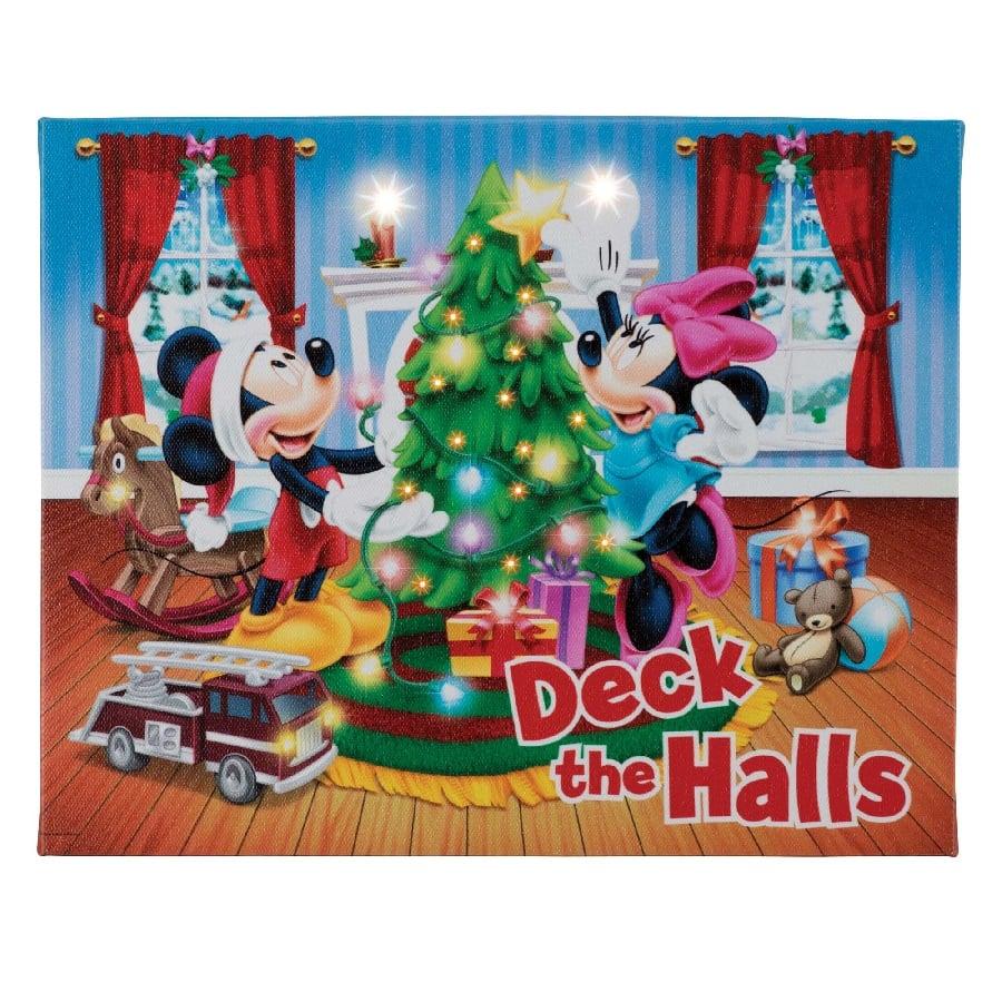 MR CHRISTMAS Deck the Halls - 4x6 Disney Illuminart wit Easel