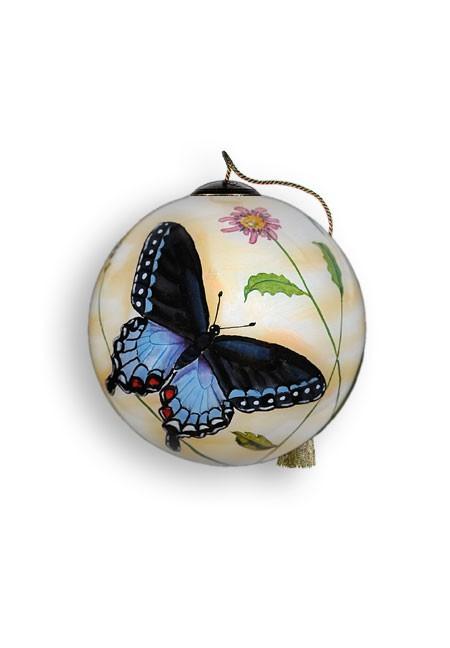 Blue Butterflies Ornament