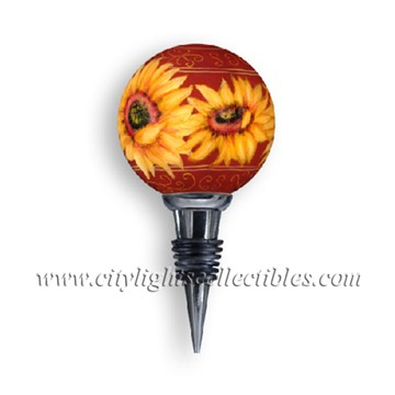 Sunflowers Wine Stopper