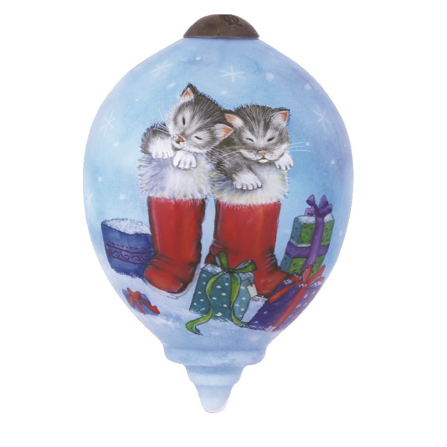 Kittens' Snow Day Hanging Ornament