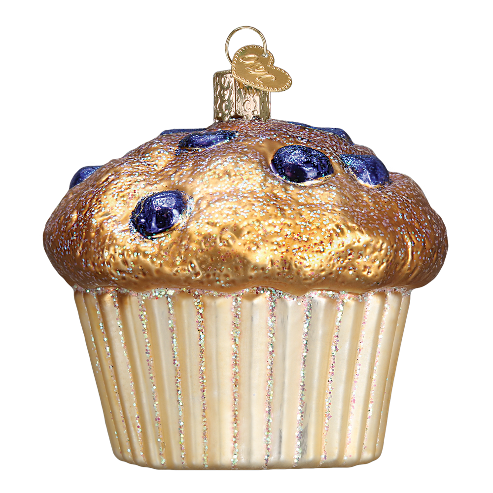 Christmas Tree Muffins: OLD WORLD CHRISTMAS 32263 Blueberry Muffin Ornament