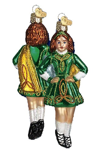 Celtic Dancer Glass Ornament