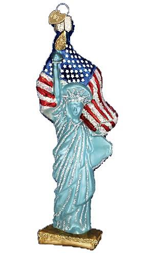 Statue of Liberty Glass Ornament