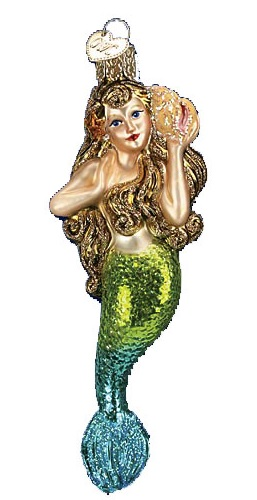 Mermaid Glass Ornament