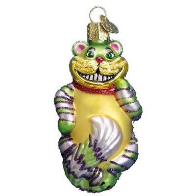 Cheshire Cat Glass Ornament