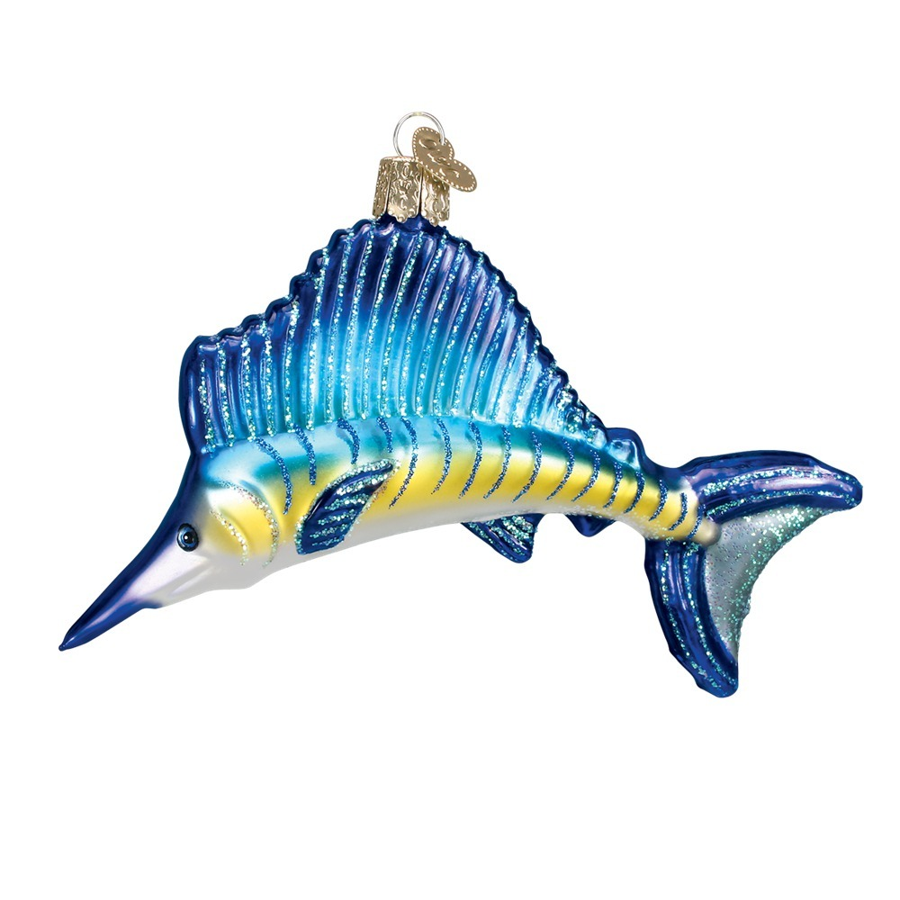Sailfish Glass Ornament