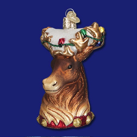 Reindeer Glass Ornament