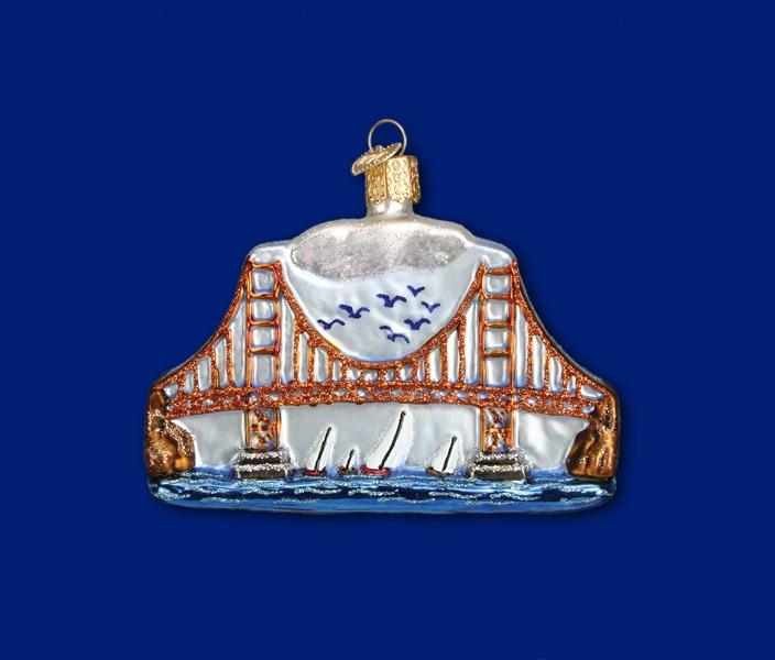 Golden Gate Bridge Glass Ornament