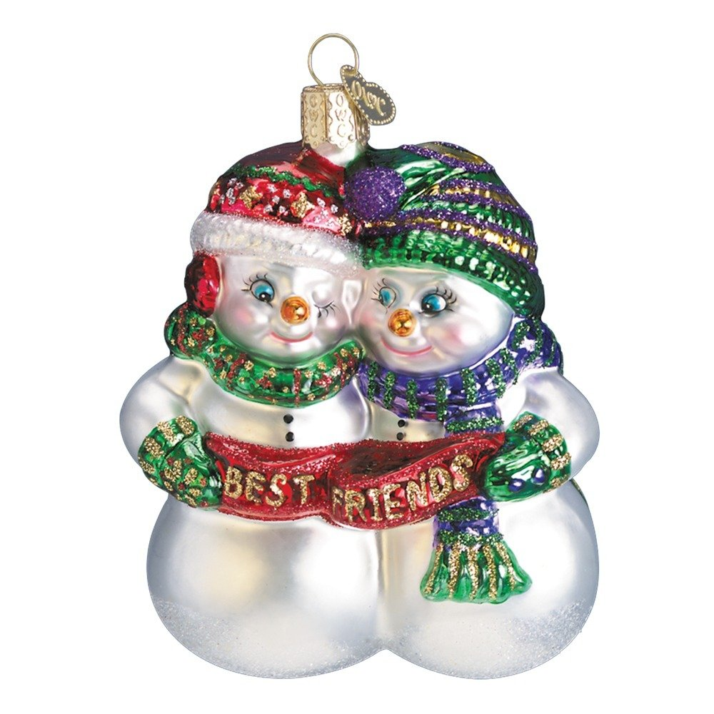 best friends glass ornament - Best Friend Christmas Ornaments