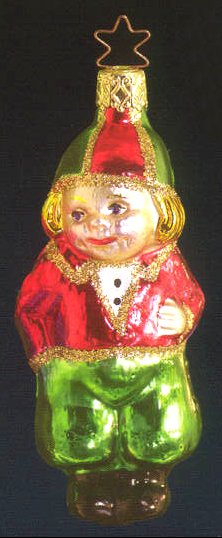 Christmas Boy Glass Ornament
