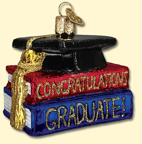 Congrats Graduate Glass Ornament