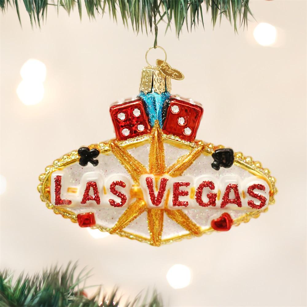 OLD WORLD CHRISTMAS 36149 Las Vegas Sign Ornament