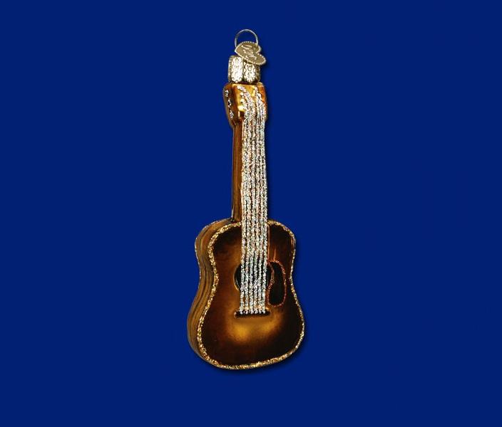 Guitar Glass Ornament