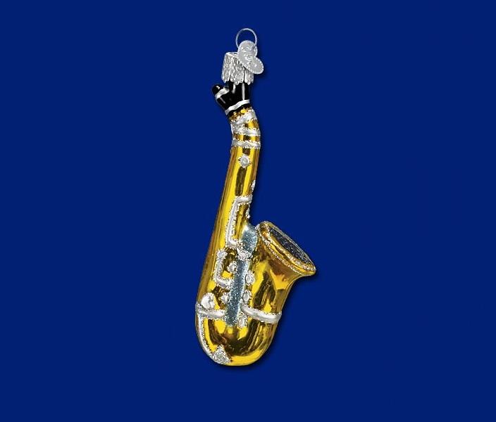 Saxophone Glass Ornament