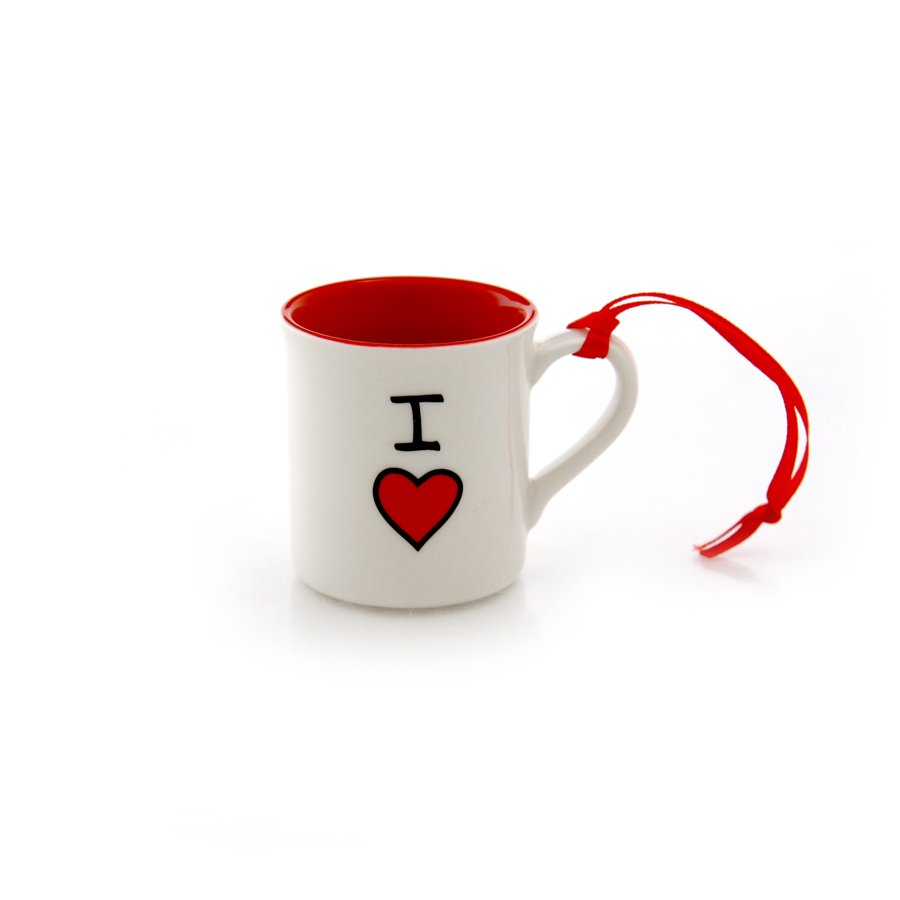 OUR NAME IS MUD I Heart Mug Hanging Ornament - Personalizable