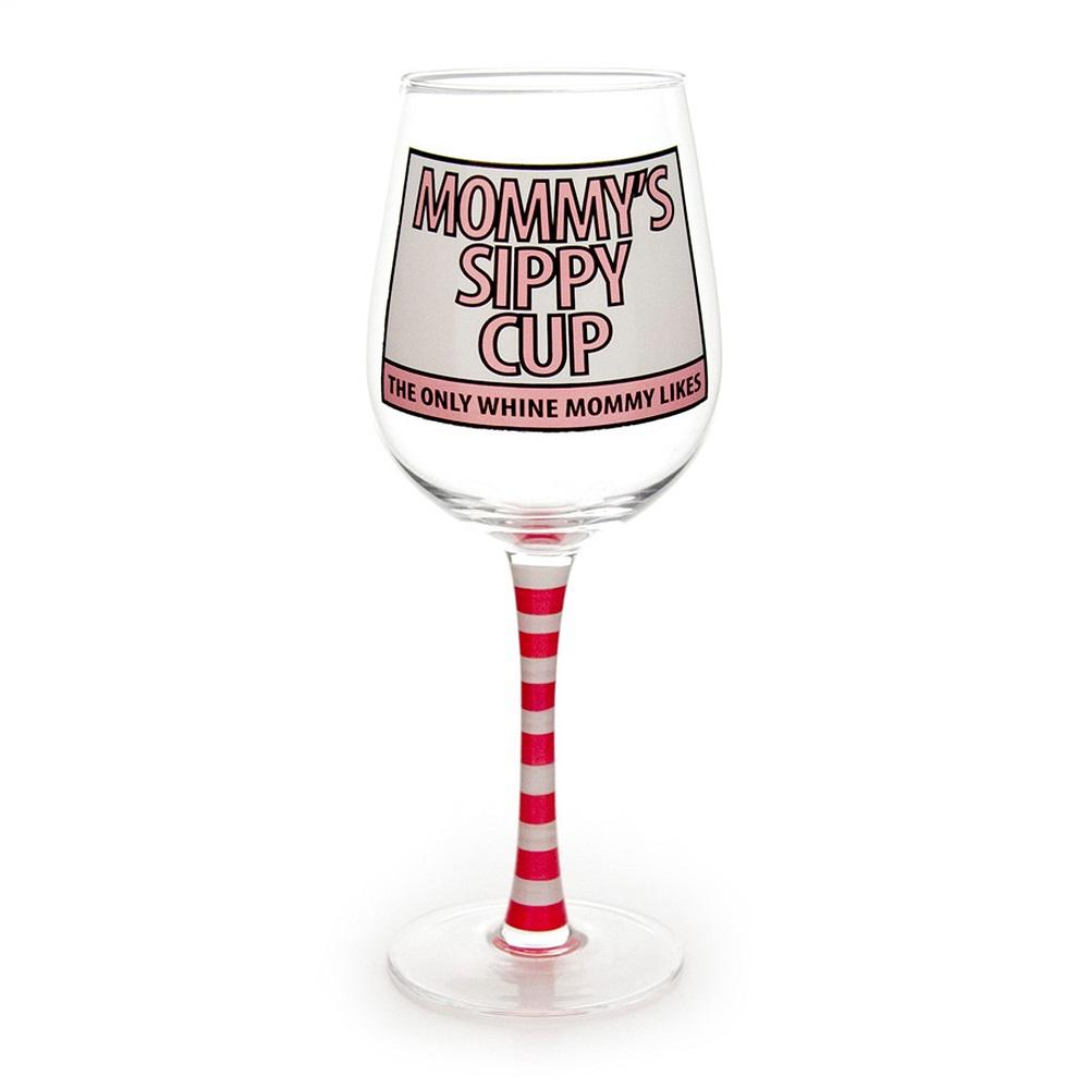 Moms Sippy Glass Goblet