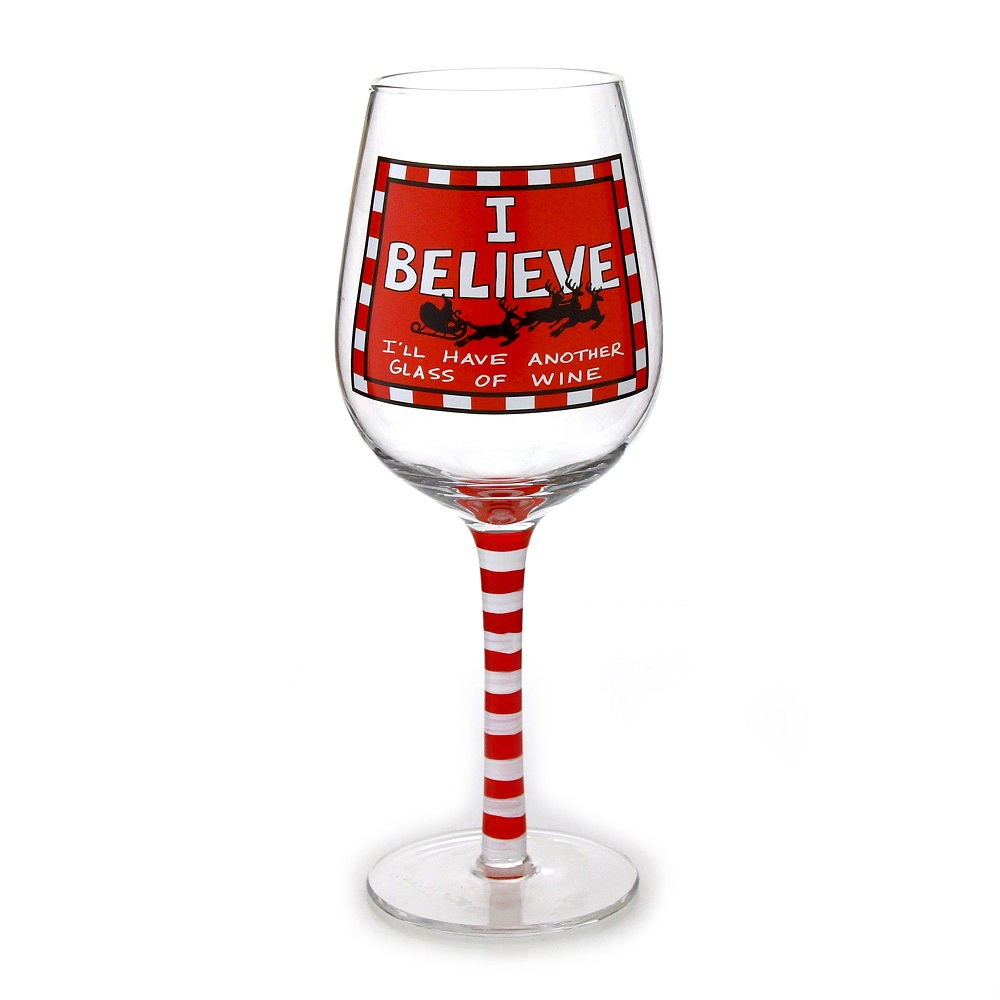 I Believe Wine Glass