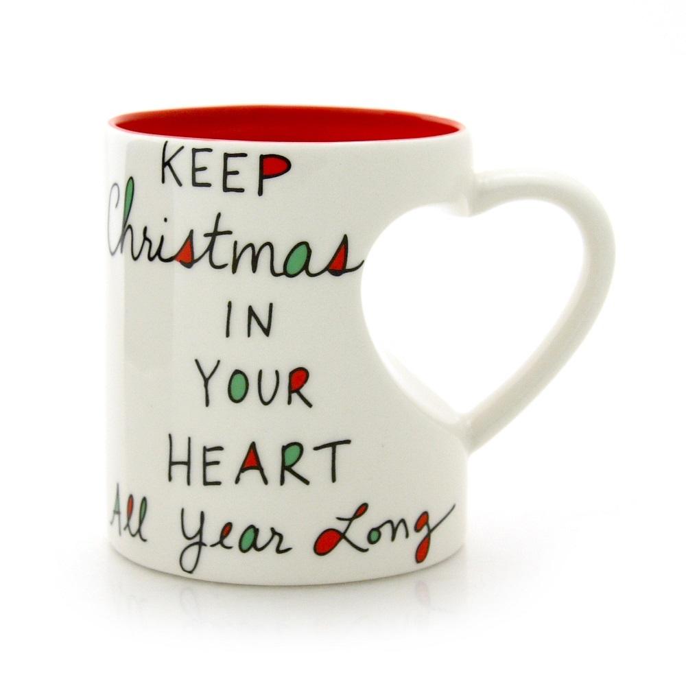 Christmas Heart Shaped Mug