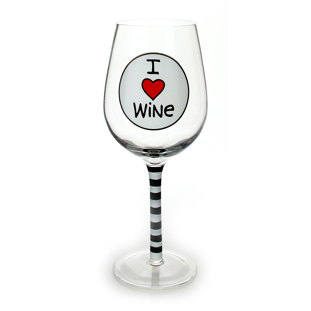 I Heart Wine Glass