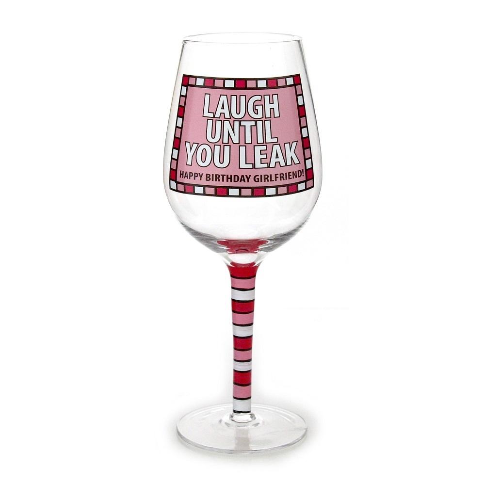 Laugh Until You Leak Wine Glass