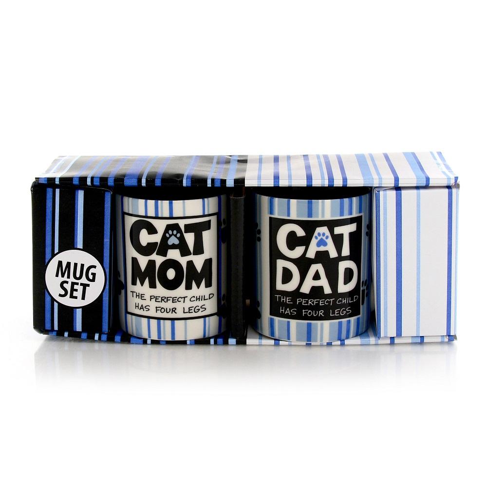 Cat Mom Cat Dad Mugs