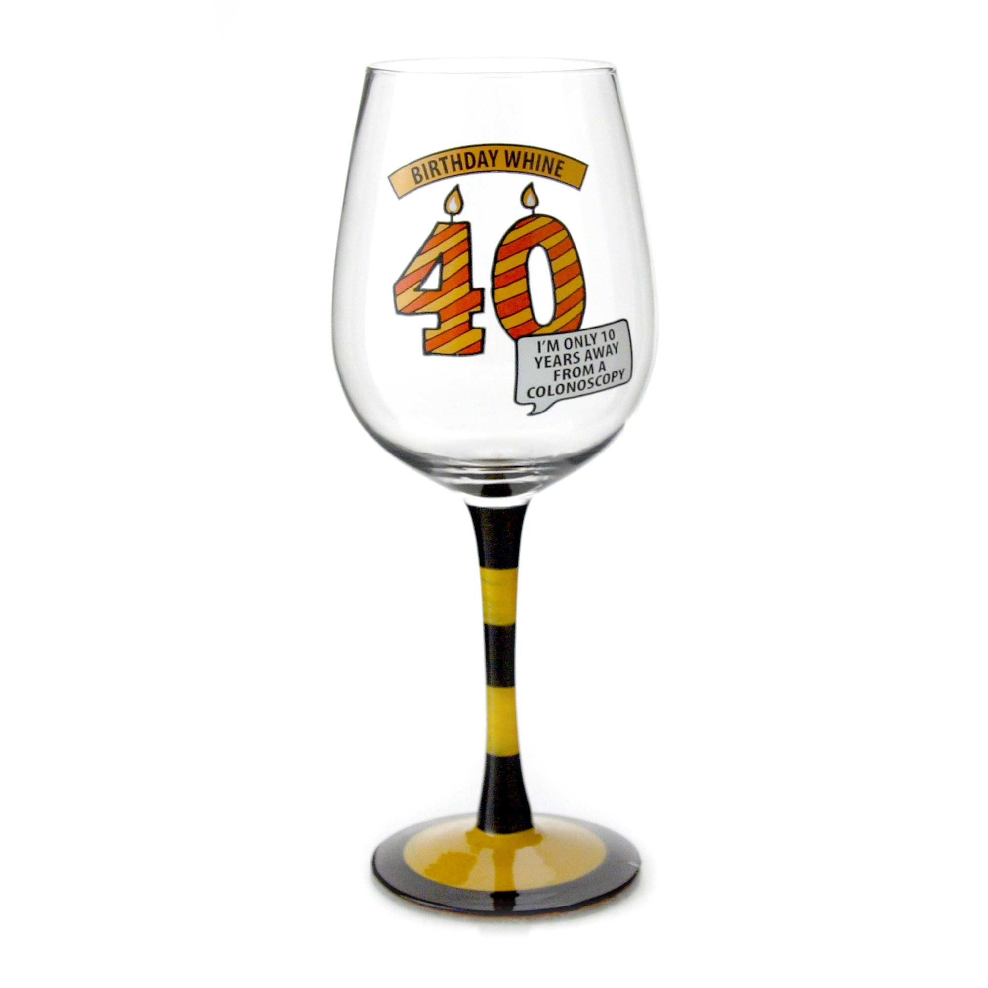 Goblet 40 - Birthday Wine Glass 40