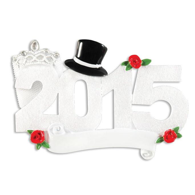 Wedding 2015 Ornament