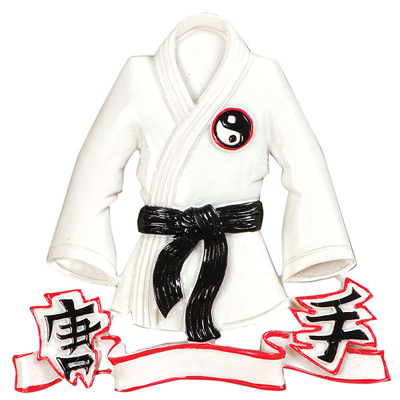 Karate Jacket Ornament - Personalizable