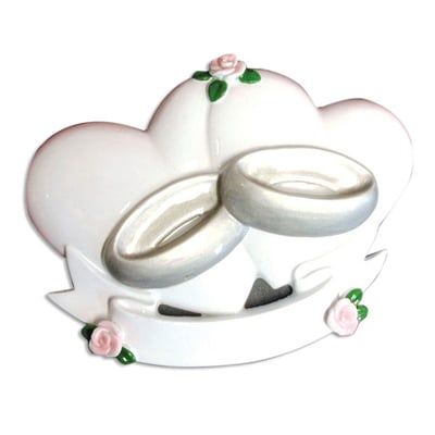 Couples - Wedding Heart Ornament - Personalizable