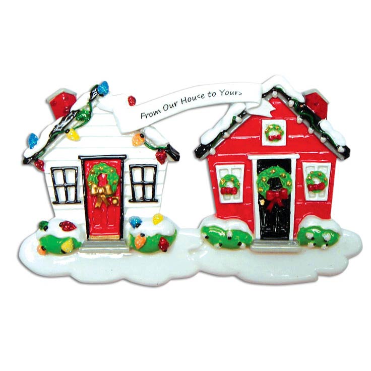 From Our House to Yours Ornament - Personalizable
