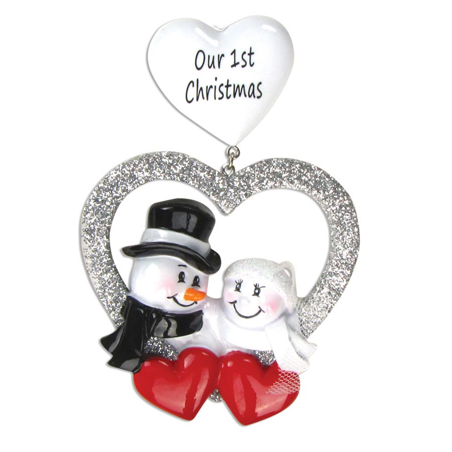 """""""Our First Christmas"""" Wedding Ornament - Personalizable"""