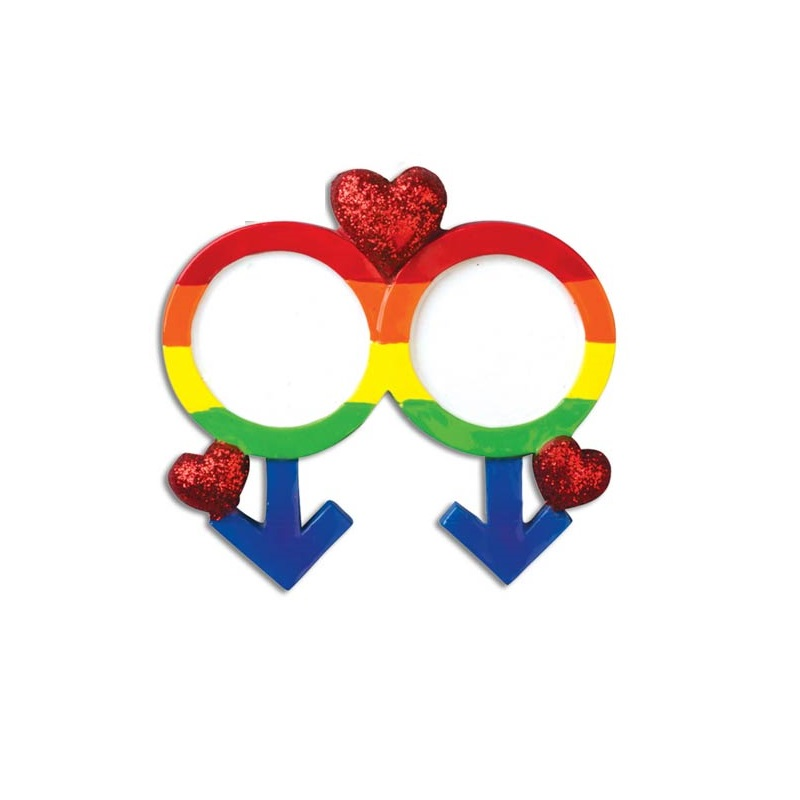 Gay Pride with Male Symbol Ornament - Personalizable