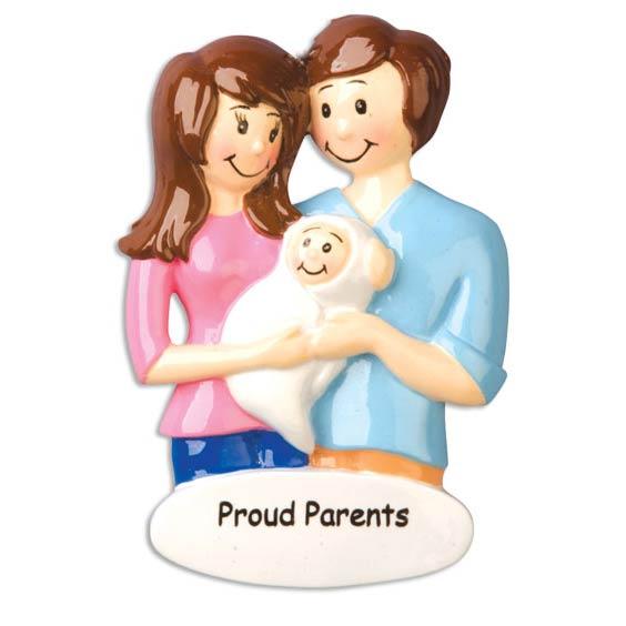 """""""Proud Parents"""" Family Ornament - Personalizable"""