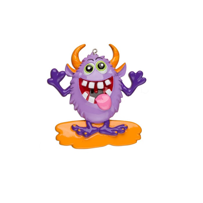 Purple Monster Ornament - Personalizable