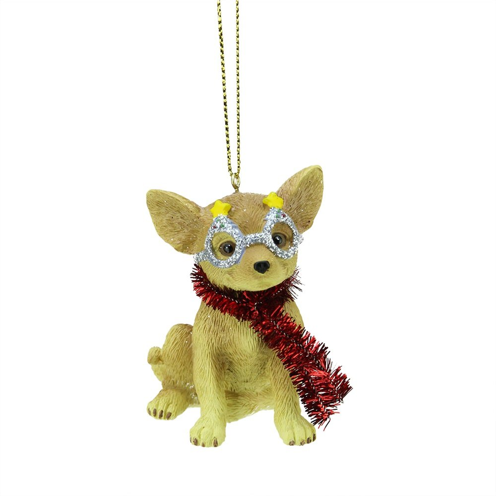 Chihuahua with Glasses Ornament