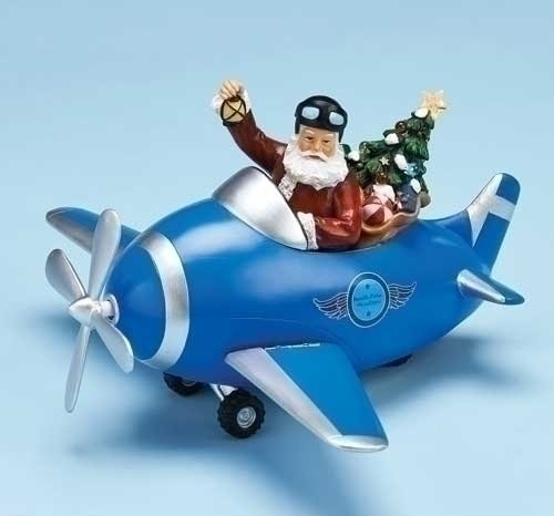 Musical LED Plane With Santa And Rotating Propellor