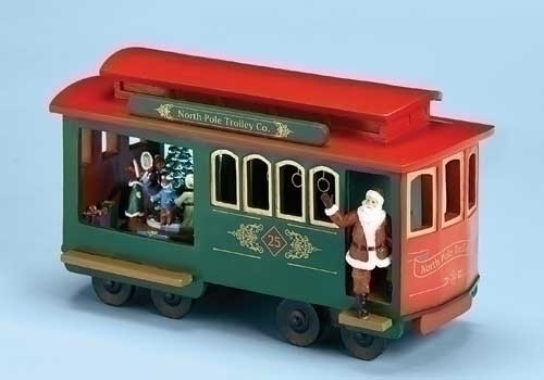 Trolly Car With Santa