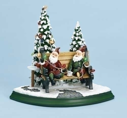 Roman 32328 Elves On Bench Led