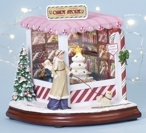 Christmas Candy Shop with Lighting and Animation