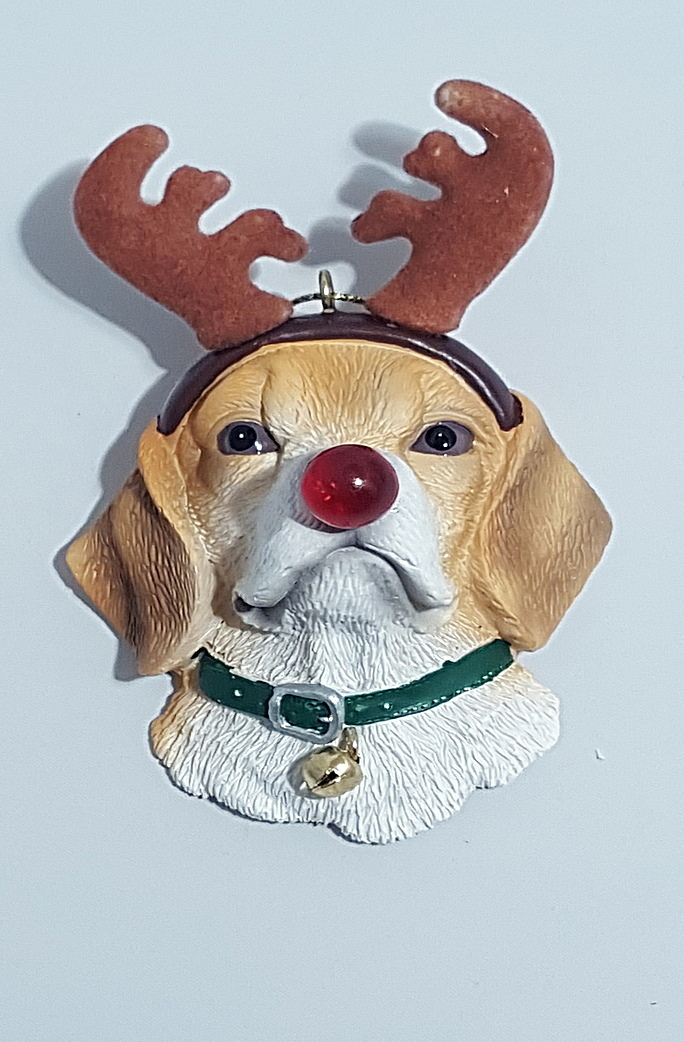 Beagle with Antlers Ornament