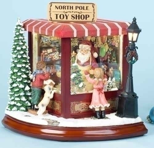 Santa's North Pole Toy Shop with Lights and Music
