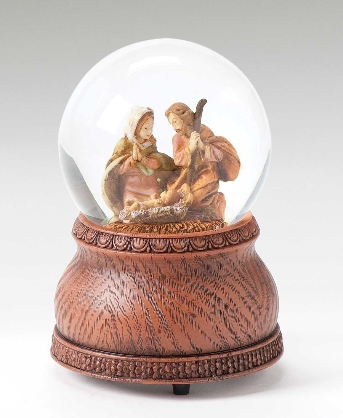 Holy Family Glitter Water Globe