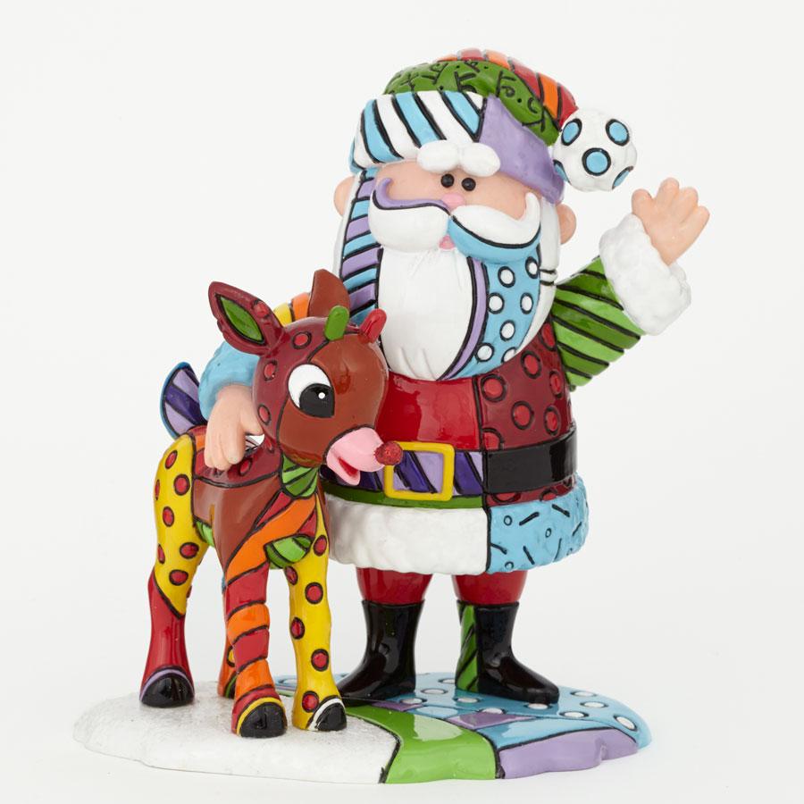 Santa and Rudolph Figurine