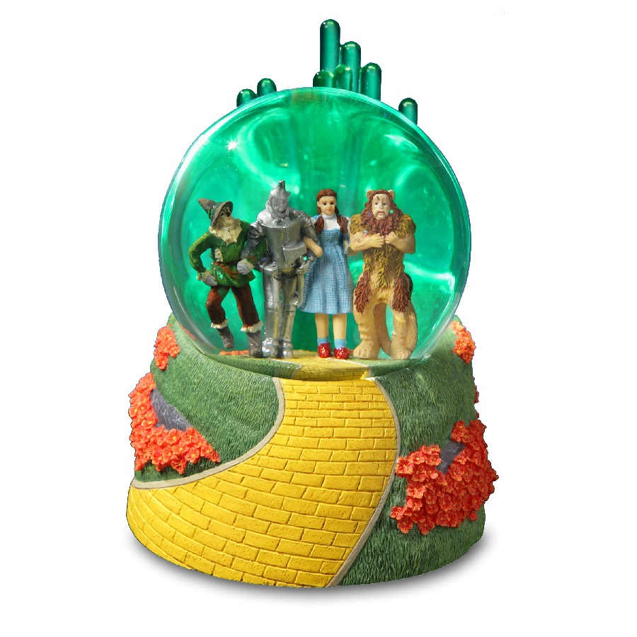 Emerald City, Four-Character Lighted Waterglobe