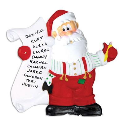 Santa's List Ornament - Personalizable