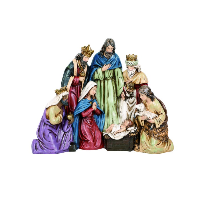 Large One-Piece Resin Nativity