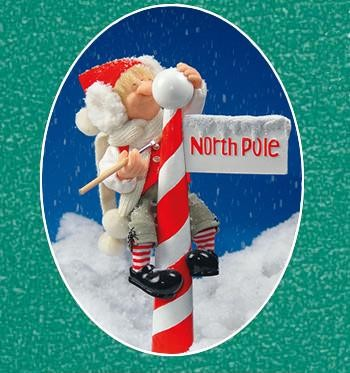 North Pole Sign Accessory (Reggie Elf Sold Separately)
